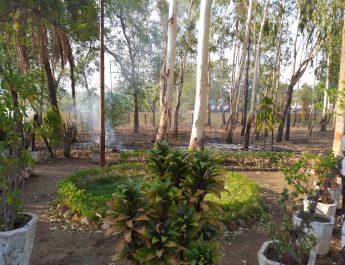 पर्यावरण को धता बताकर सर्किट हाऊस सिवनी में जल रहा कचरा!