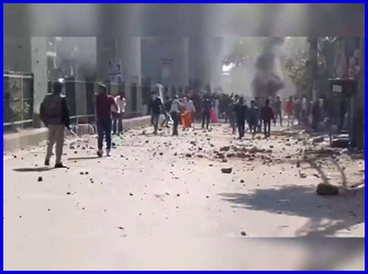 ट्रंप के दौरे के बीच दिल्ली में हिंसा