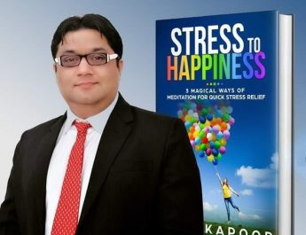 Udit Kapoor Author of Book Stress to Happiness : receives coveted Book Excellence Award.